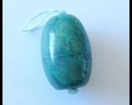 67 Ct Natural Chrysocolla Bead