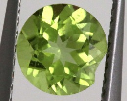 GREEN PERIDOT FACETED STONE 0.85   CTS    SG -2000