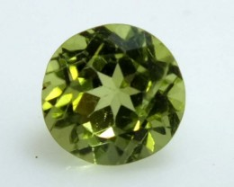 GREEN PERIDOT FACETED STONE  1.0  CTS    SG -1999