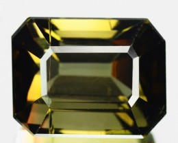 8.16 Cts Natural Honey Green Tourmaline Octagon Cut Mozambique Gem