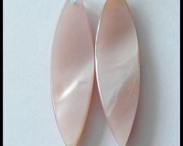 28.4 Ct Natural Shell Earring Beads(B1804372)
