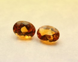 CITRINE PAIR OVAL SHAPED