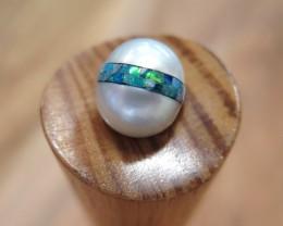 Australian South Sea and Opal Inlay Pearl