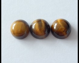 3 pcs Natural Tiger Eye Gemstone Cabochons