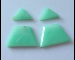 50.3 Ct Triangle Chrysoprase Gemstone Cabochons Set