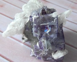 199.5ct Natural Fluorite Gemstone Specimens With Crystal Quartz, Druzy Clus