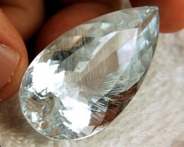 CERTIFIED RUTILATED Topaz - 150.76 ct Stunning & Rare