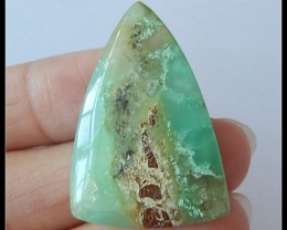 29.5 ct Natural Chrysoprase Gemstone Cabochon ,Wholesale Jewelry