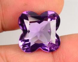 11.74 Cts Natural Purple Amethyst Fancy Cut Bolivia Gem