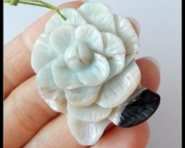 Flower Carving Amazonie Pendant Bead,54.5 ct