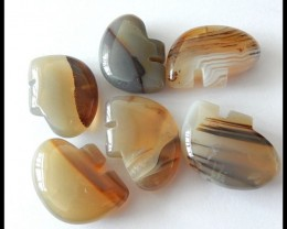 6 Pcs Natural Agate Gemstone,95.5 CT