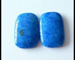 44 Ct Natural Lapis Lazuli Gemstone Cabochon Pair(C0002)