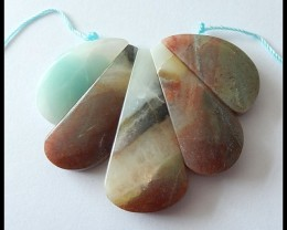 131 ct Bi Color Amazonite Cluster Pendant Beads,Untreated