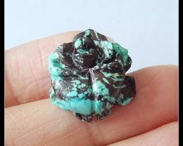 16.7 ct Turquoise Gemstone Flower Carving