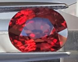4.25cts, Certified Reddish / Orange Zircon,  Untreated Stone