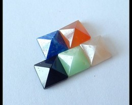 5 PCS Natural Gemstone Pyramids,Gemstone Art 9.65 cts