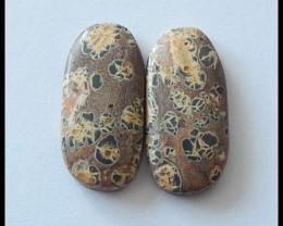 22.95ct Pair Cabochons Natural Chohua Jasper(C0027)