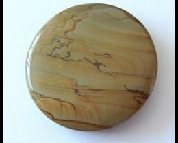 105.5cts Round Owyhee Jasper Pendant Bead