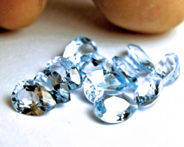 14.25 Tcw. Blue South American VS Topaz Pears - 11 Pieces