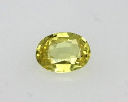0.25cts Natural Australian Yellow Sapphire Oval Cut