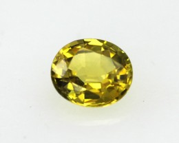 0.40cts Natural Australian Gold Sapphire Oval Cut