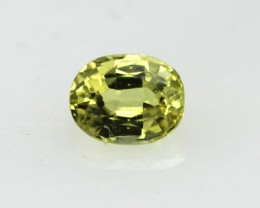 0.41cts Natural Australian Yellow Sapphire Oval Cut