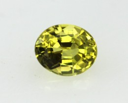 0.43cts Natural Australian Yellow Sapphire Oval Cut