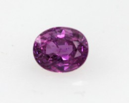 0.33cts Natural Sri Lankan (Ceylonese) Pink Sapphire Oval Cut