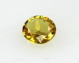 0.31cts Natural Australian Golden Sapphire Oval Cut