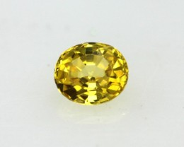 0.36cts Natural Australian Yellow Sapphire Oval Cut