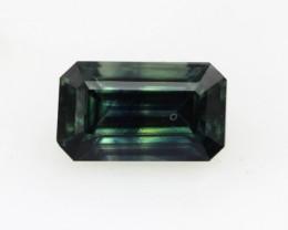 1.43cts Natural Australian Blue Parti Sapphire Emerald Cut