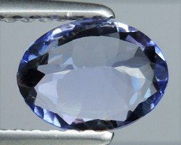 EXCELLENT NATURAL TANZANITE OVAL TOP LUSTER