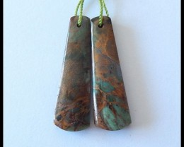 Green Opal Earring Beads,26.5 cts