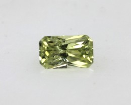 0.37cts Natural Australian Yellow Sapphire Radiant Cut