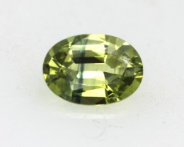 0.59cts Natural Australian Yellow Parti Sapphire Oval Cut