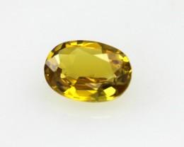 0.53cts Natural Australian Golden Sapphire Oval Cut
