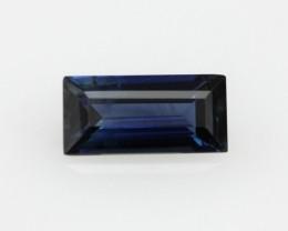 0.54cts Natural Australian Blue Sapphire Baguette Cut