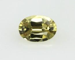 0.64cts Natural Australian Golden Sapphire Oval Cut