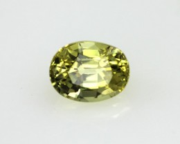 0.91cts Natural Australian Yellow Sapphire Oval Cut