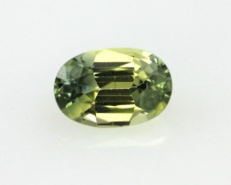 0.64cts Natural Australian Yellow Parti Sapphire Oval Cut