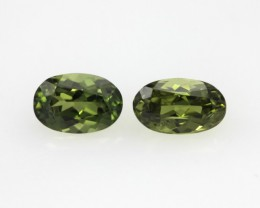 0.80cts  Matching Pair Natural Sapphires 2pcs Beautiful Accent Stones