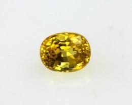 0.44cts Natural Australian Golden Sapphire Oval Cut