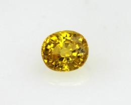 0.38cts Natural Australian Golden Sapphire Oval Cut