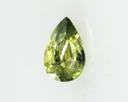 0.43cts Natural Australian Yellow Parti Sapphire Pear Cut