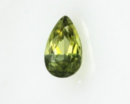 1.10cts Natural Australian Yellow/Blue Parti Sapphire Pear Cut