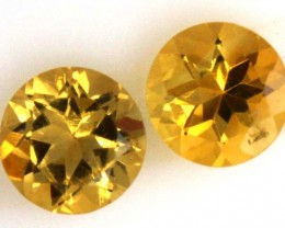 1.65 CTS CITRINE FACETED PAIR (2PCS) PG-1749
