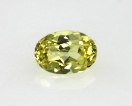 0.34cts Natural Australian Yellow Sapphire Oval Cut