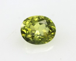 0.57cts Natural Australian Yellow Parti Sapphire Oval Cut