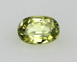 0.58cts Natural Australian Yellow Sapphire Oval Cut