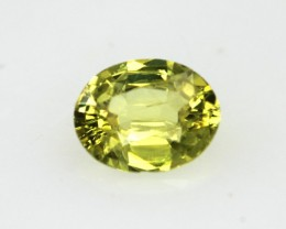 0.57cts Natural Australian Yellow Sapphire Oval Cut